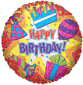 "9"" Happy Birthday Red Burst Air Fill Foil Balloon 1ct #17645"