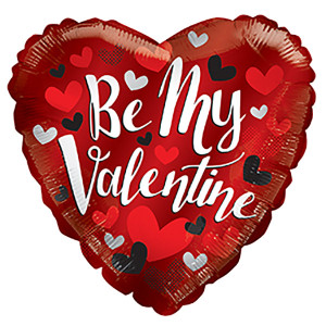 "9"" Be My Valentine Mini Foil Balloon Air Fill 1ct"