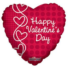 "9"" Mini Happy Valentine Lace Pattern Balloon Air Fill 1ct"