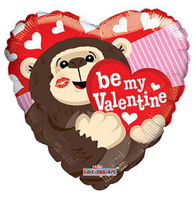 "9"" Be My Valentine Gorilla Air Fill 1ct"