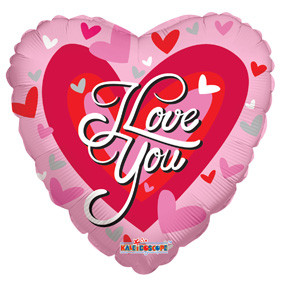 """9"""" I Love You Big Hearts Mini Air Fill Only # 19122"""