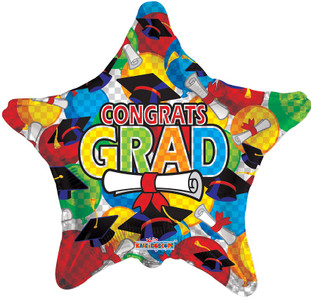 "9"" Mini Congrats Grad Balloon Air Fill (5PACK) #85084-09"