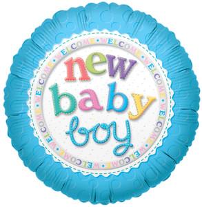 "9"" Mini New Baby Boy  Air Fill Foil Balloons (5 Pack)#17511"