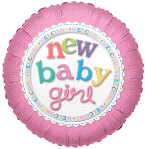 "9"" Mini New Baby Girl Balloon 1ct"