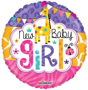 18″ Baby Girl Jungle Gellibean Helium Foil Balloons (5 PACK)19727-18