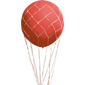 hot air balloon nets make round balloons look like hot air balloons