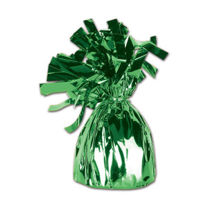balloon weights green foil balloon weights