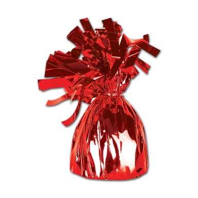 balloon weights red foil weights