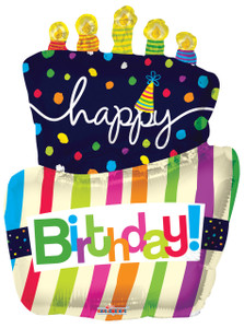 "36"" Jumbo Birthday Cake Helium Foil Balloons 1ct  #19469"