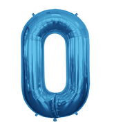 "34"" Large Blue # 0 Balloon 1ct"