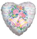 "18"" Bridal Shower Bells Helium Foil Balloon 5 Pack"