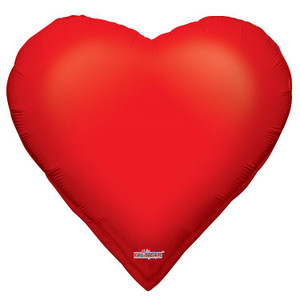 "28"" Casino Heart Suit Helium Foil Balloon 1 count"