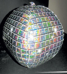 disco ball shape balloons