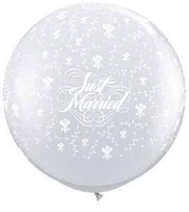 just married balloons