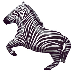 "30"" Party Zebra Full Body #38522"