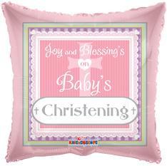 "18"" Baby Girl Christening Foil Balloon 1ct #17912"
