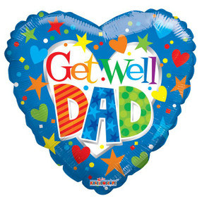 "18"" Get Well Dad Balloons (5 PACK) #19721"