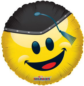 "18"" Smiley Grad With Cap Balloon (5 Pack) #85150"