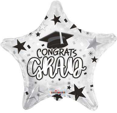 graduation balloons white grad star