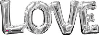 love letter balloons connected balloon letters