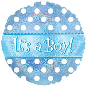 "9"" Mini Boy Dazzleloon Air Fill Foil Balloon #124040"