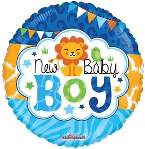 "9"" Mini New Baby Boy Air Fill Stick Balloon 1ct"