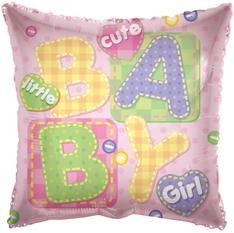 "18"" Girl Big Letters Square 1ct #17772"