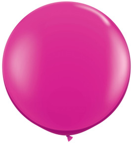 "36"" Qualatex Round Jewel Magenta Balloons 1ct #43492"