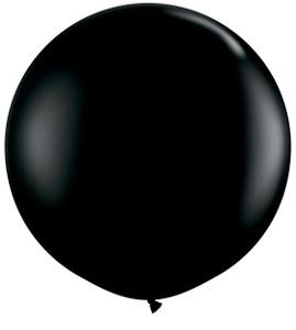 "36"" Qualatex Onyx Black Round Latex Balloons 1ct #42857"