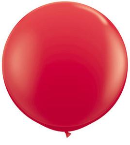 "36"" Qualatex Red Round Latex Balloons 1ct #42554"