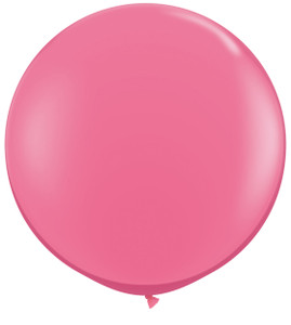 "36"" Qualatex Round Rose Balloons 1ct #43640"