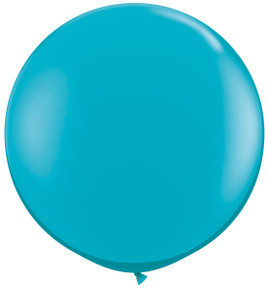 "36"" Qualatex Round Tropical Teal Balloons 1ct #43514"