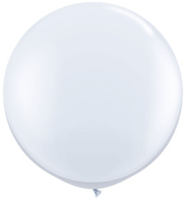 """36"""" Qualatex Round White Balloons 1ct #42847"""