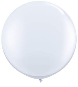 """36"""" Qualatex White Round Latex Balloons 1ct #42847"""