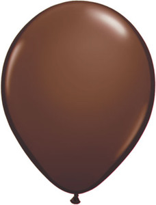"5"" Qualatex Chocolate Brown Latex Balloons 100Bag #68776-5"