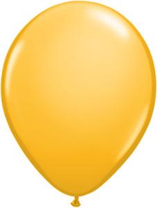 "5"" Qualatex Goldenrod Latex Balloons 100Bag"