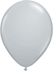 "5"" Qualatex Gray Latex Balloons 100Bag"