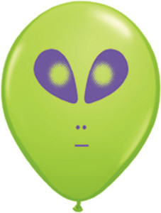 "5"" Qualatex Alien Head Lime 100Bag #79711"