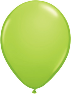 "5"" Qualatex Lime Green Latex Balloons 100Bag #48954-5"
