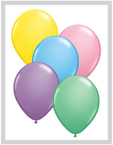 "5"" Qualatex Pastel Assortment Latex Balloons 100Bag #43572-5"
