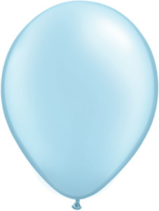 "5"" Qualatex Pearl Light Blue Latex Balloons 100Bag #43586-5"