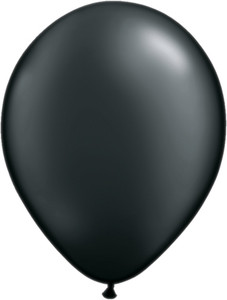"5"" Qualatex Pearl Onyx Black Latex Balloons 100Bag #43579-5"