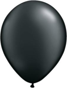 "5"" Qualatex Pearl Onyx Black Latex Balloons 100Bag #43579-5"