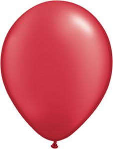 "5"" Qualatex Pearl Ruby Red Latex Balloons 100Bag #43594-5"