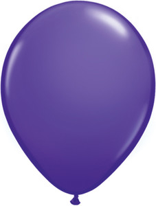 "5"" Qualatex Purple Violet Latex Balloons 100Bag #82697-5"