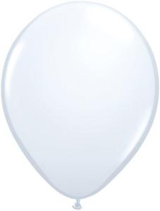 "5"" Qualatex White Latex Balloons 100 Bag #43607"