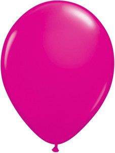 "5"" Qualatex Wild Berry Latex Balloons 100Bag #25571-5"