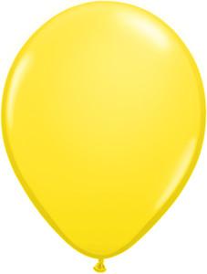 "5"" Qualatex Yellow Latex Balloons 100Bag #43609-5"