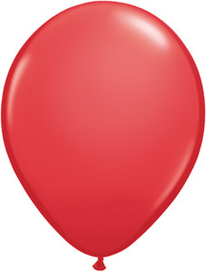 "5"" Qualatex Red Latex Balloons 100Bag #43599"