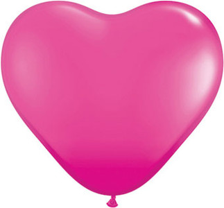 "6"" Qualatex Wild Berry Heart 100 Bag #30213-6"